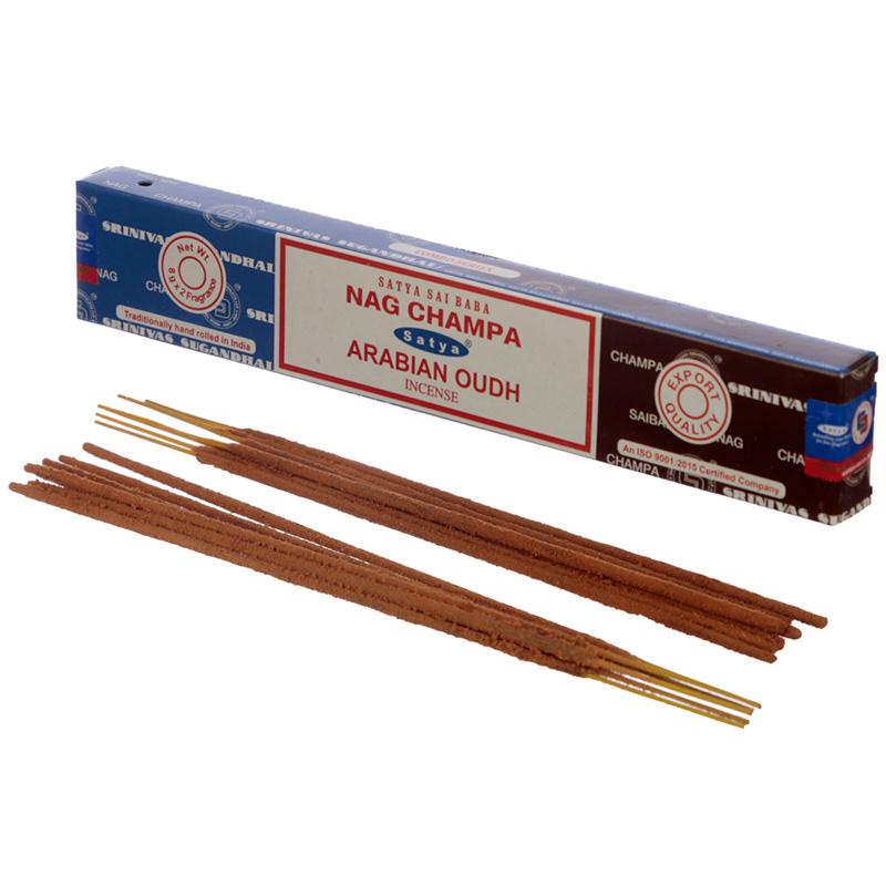 Satya Incense Sticks Nag Champa  Arabian Oudh