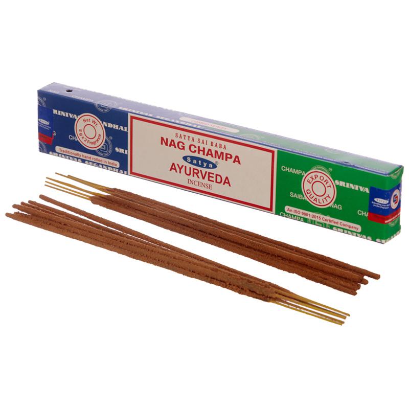 Satya Incense Sticks Nag Champa  Ayurveda