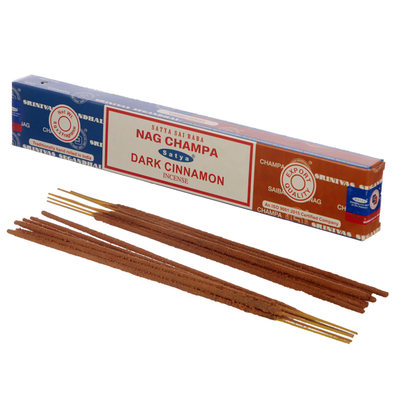 Satya Incense Sticks Nag Champa  Dark Cinnamon