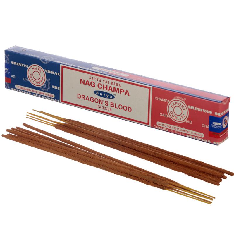 Satya Incense Sticks Nag Champa  Dragons Blood