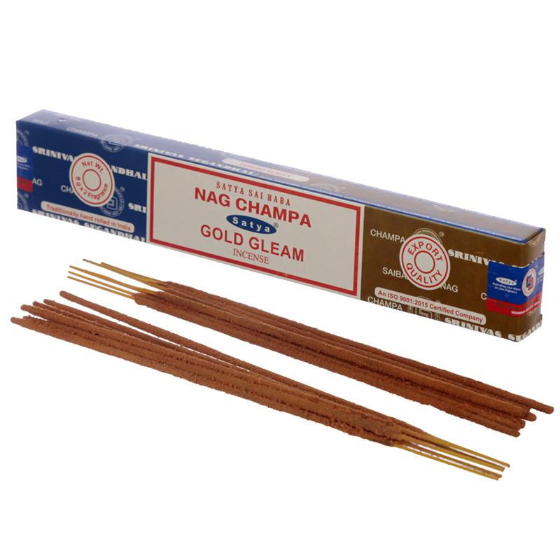Satya Incense Sticks Nag Champa  Gold Gleam