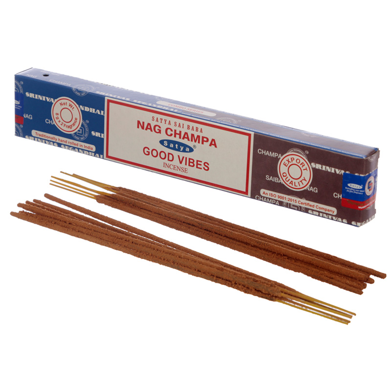 Satya Incense Sticks Nag Champa  Good Vibes