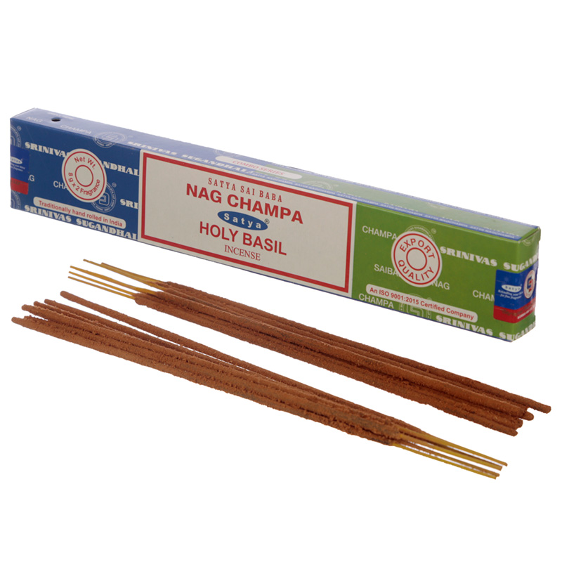 Satya Incense Sticks Nag Champa  Holy Basil