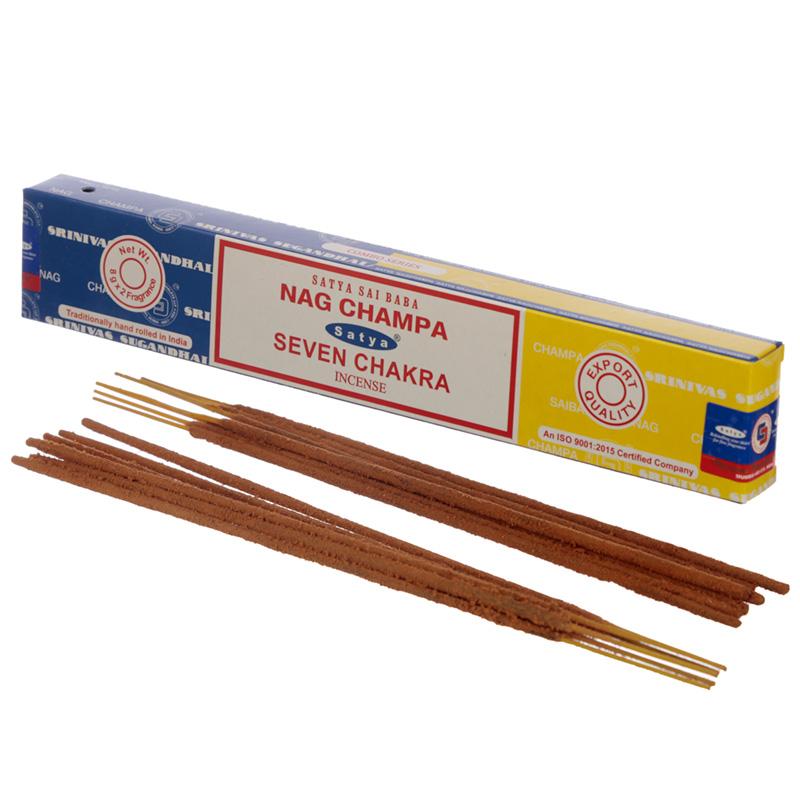 Satya Incense Sticks Nag Champa  Seven Chakra