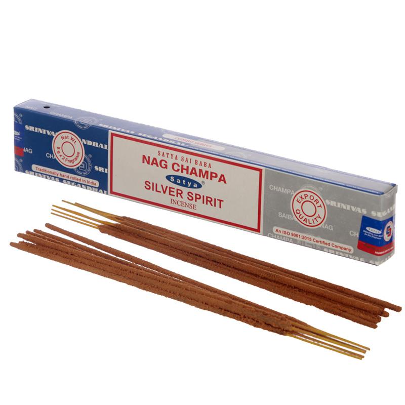 Satya Incense Sticks Nag Champa  Silver Spirit