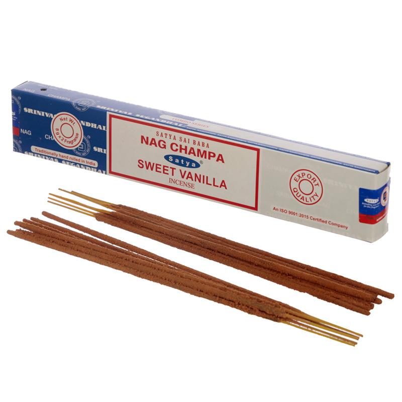 Satya Incense Sticks Nag Champa  Sweet Vanilla