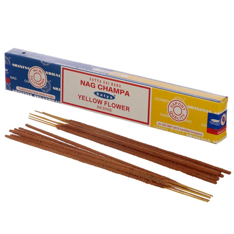 Satya Incense Sticks Nag Champa  Yellow Flower