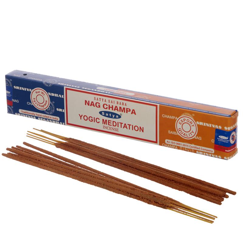 Satya Incense Sticks Nag Champa  Yogic Meditation