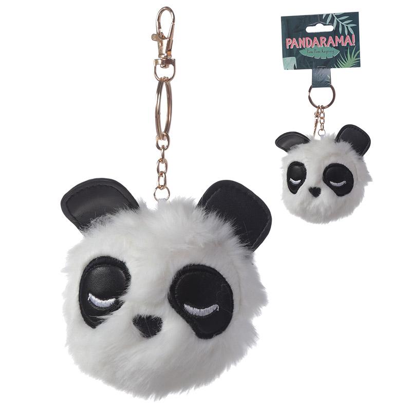 Fun Collectable Pom Pom Keyring Panda