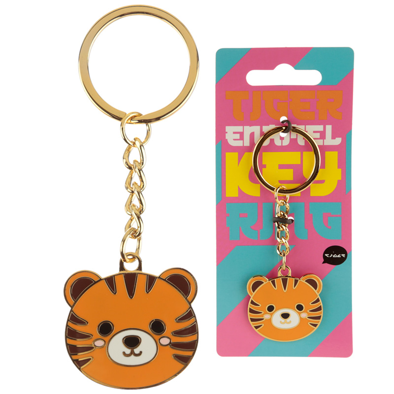 Fun Collectable Cute Tiger Enamel Keyring