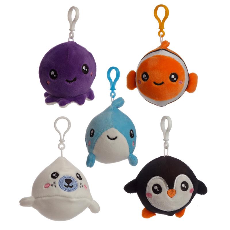 Squishy Cuddlies Cute Keyring Sealife
