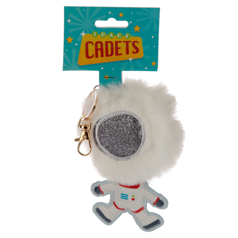 Fun Collectable Pom Pom Keyring Space Cadet Astronaut