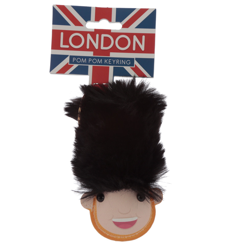 Fun Collectable Pom Pom Keyring London Guardsman
