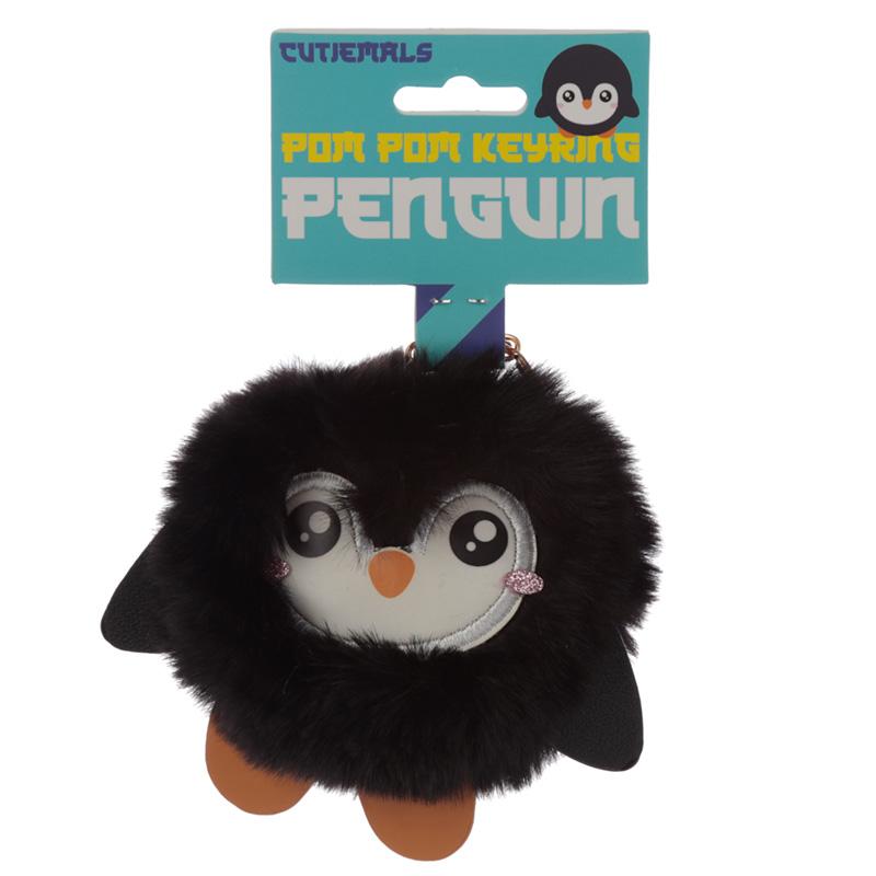 Fun Collectable Pom Pom Keyring Cutiemals Penguin