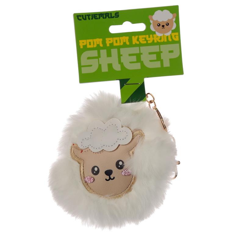 Fun Collectable Pom Pom Keyring Cutiemals Sheep