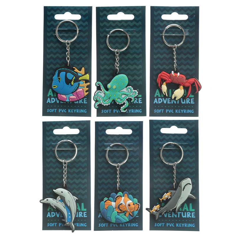 Fun PVC Keyring Under the Sea Collection