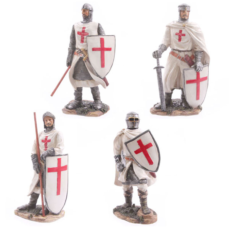 Battle Ready Novelty Crusader Knight Figurine, Fairytale Characters