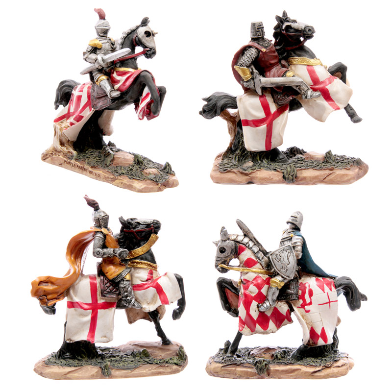 Battle Ready Novelty Knight Riding Horse, Fairytale Characters