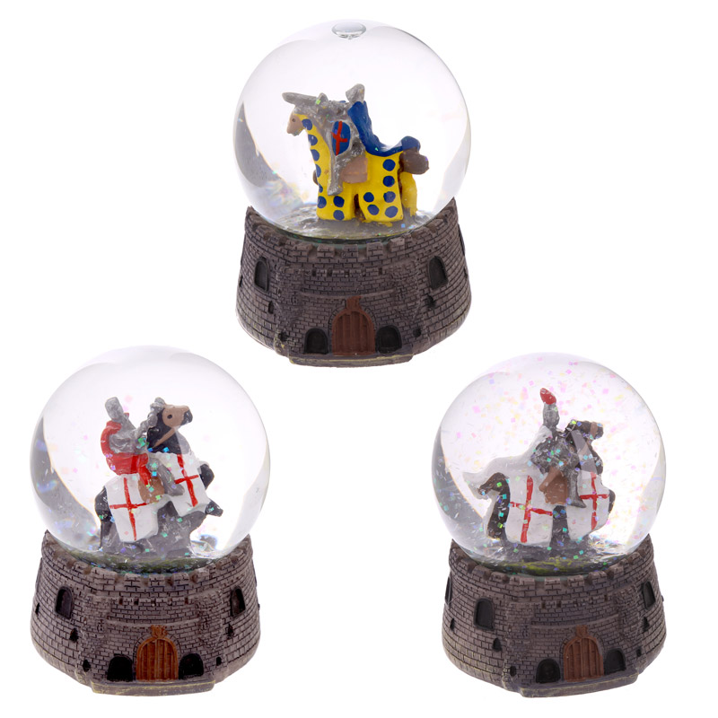 Knight Snow Globe Mounted on Horseback