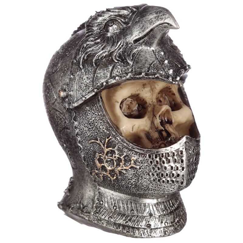 Gothic Skull in Medieval Bird Helmet Ornament