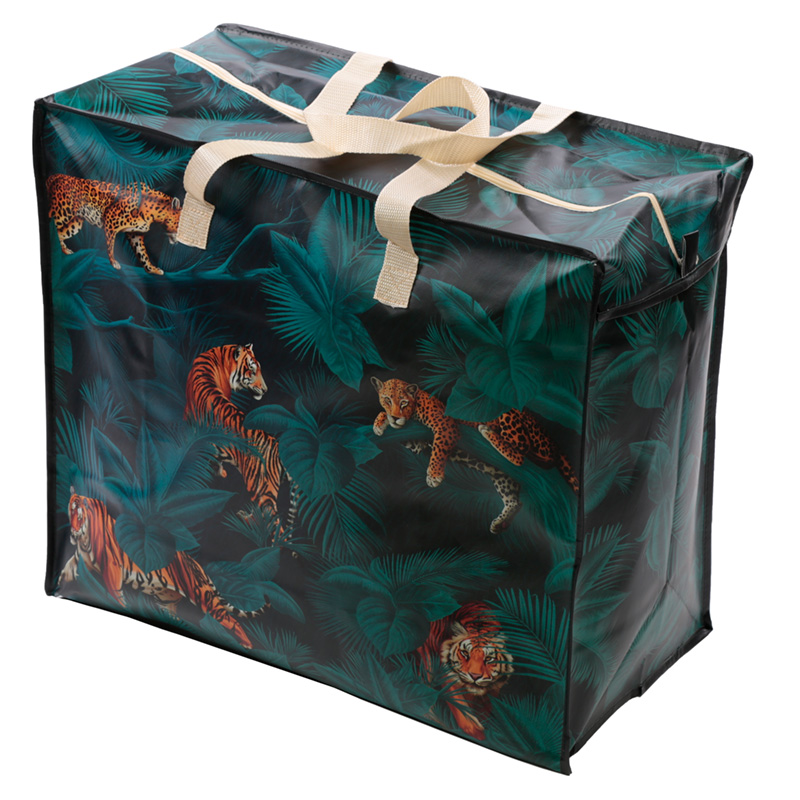 Fun Practical Laundry  Storage Bag Big Cat Spots and Stripes