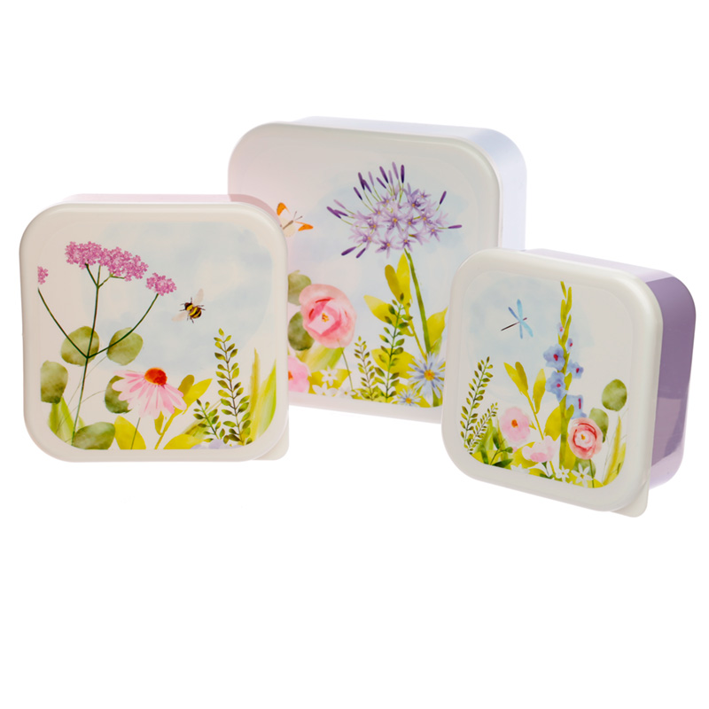 Botanical Gardens Set of 3 Plastic Lunch Boxes MLXL
