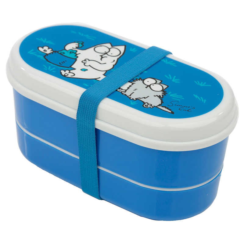 Bento Lunch Box with Fork  Spoon Simons Cat