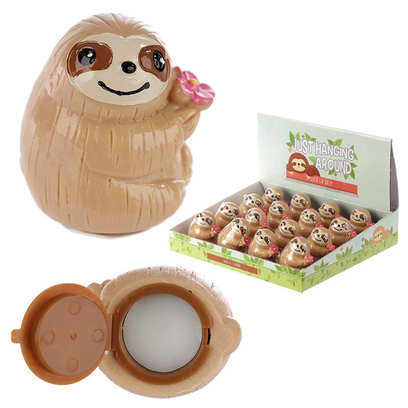 Funky Lip Balm Cute Sloth Design