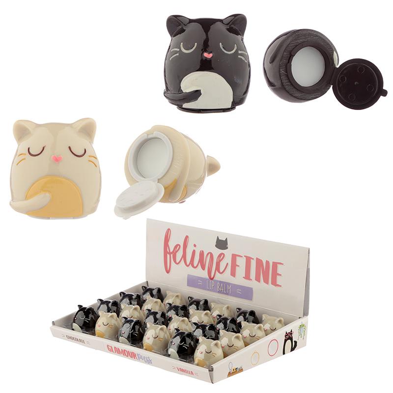 Funky Lip Balm Cute Cat Design
