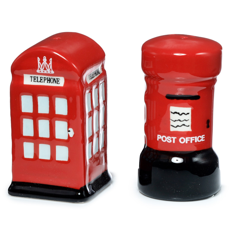 Novelty Ceramic Telephone and Letterbox Salt and Pepper Set