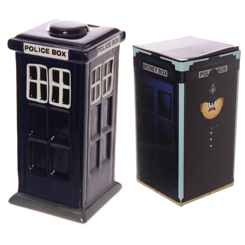 Fun Novelty Police Box Ceramic Money Box