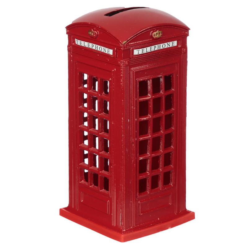 London Souvenir Pencil Money Box Red Telephone Box