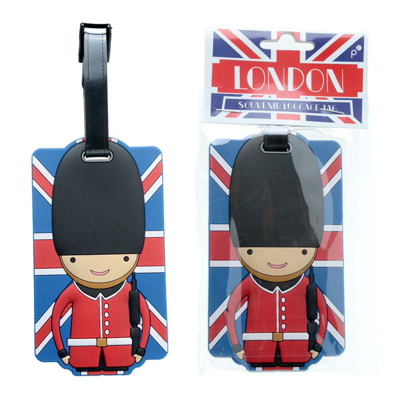 Fun Novelty Union Flag London Guardsman Luggage Tag
