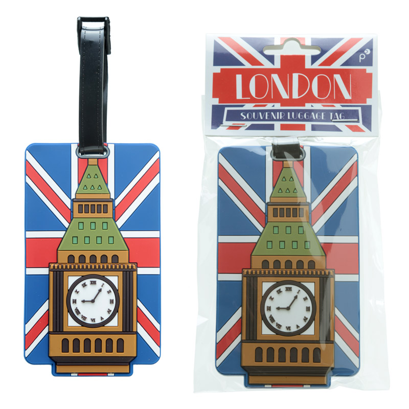 Fun Novelty Union Flag Big Ben Luggage Tag