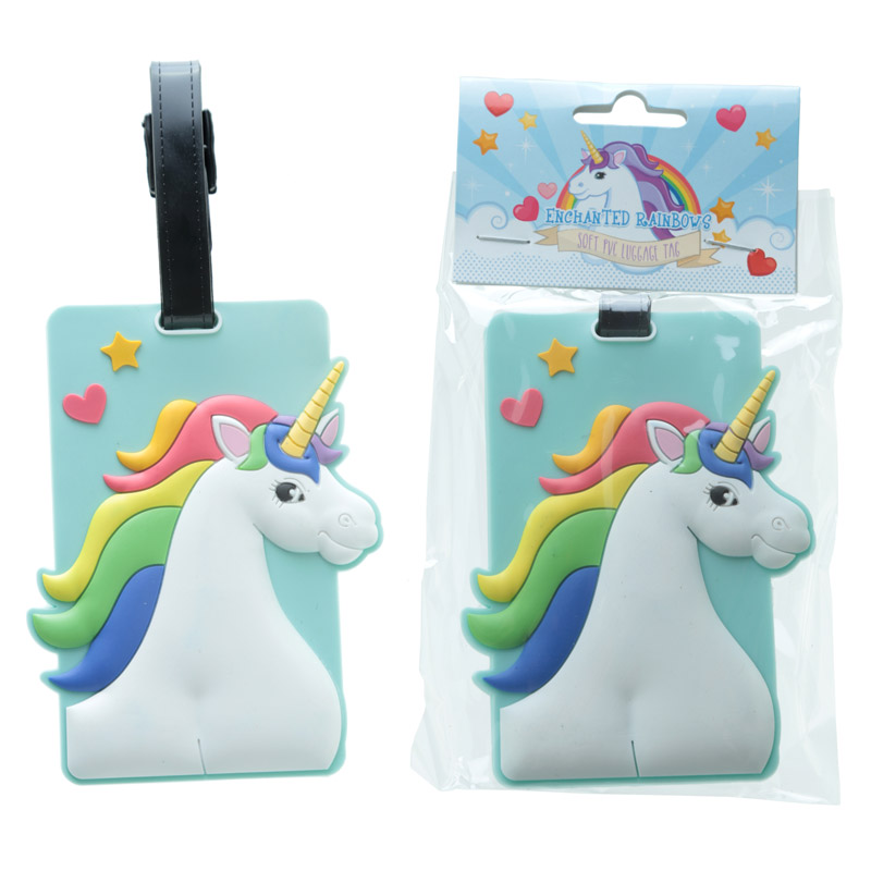 Fun Novelty Rainbow Unicorn Luggage Tag