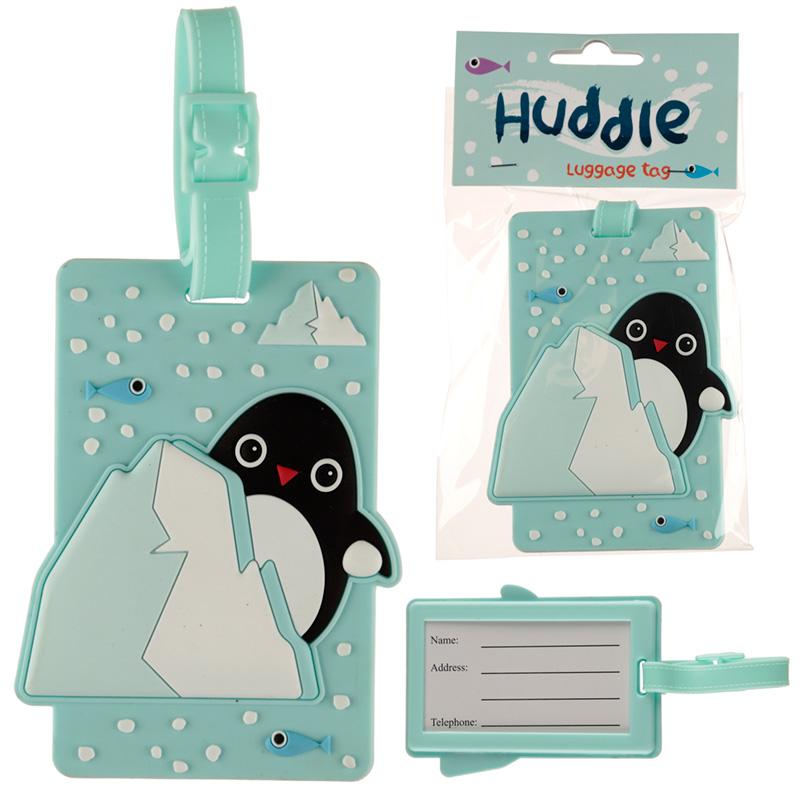 Fun PVC Luggage Tag Penguin Design