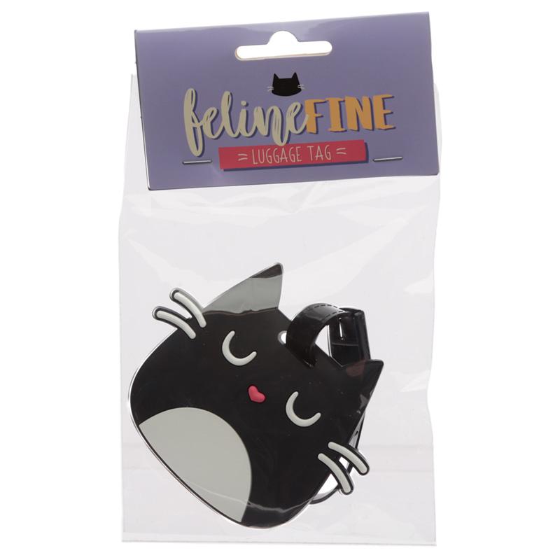 Cute Novelty Cat Feline Fine PVC Luggage Tag