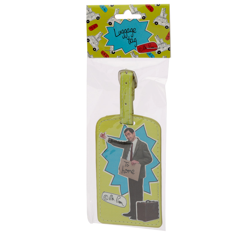 Fun Novelty Mr Bean Hitch Hiking Luggage Tag