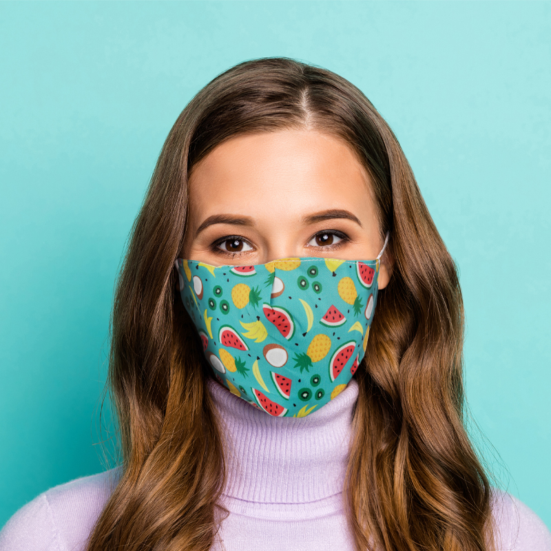 Tropical Reusable Face Covering Large
