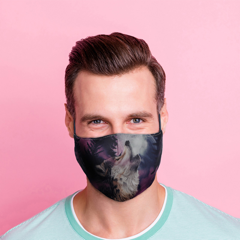 Protector of the North Wolf Reusable Face Covering Large