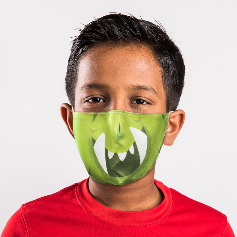 Monstarz Green Monster Reusable Face Covering Small