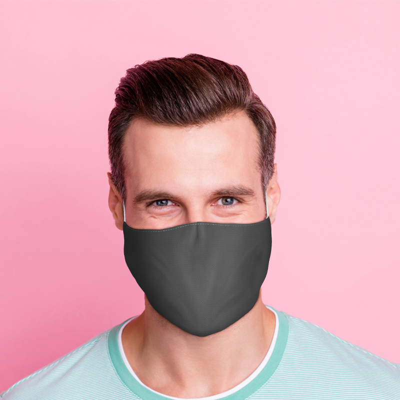 Grey Reusable Face Covering Large