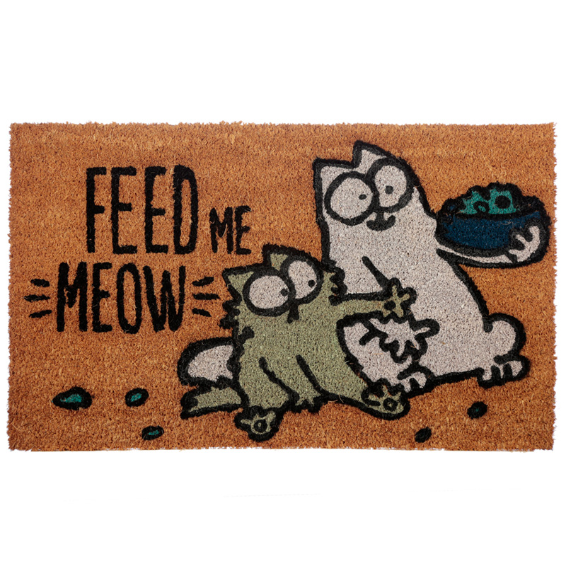 Coir Door Mat Simons Cat Feed Me Meow