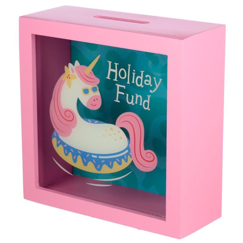 See Your Savings Money Box Vacation Vibes Unicorn