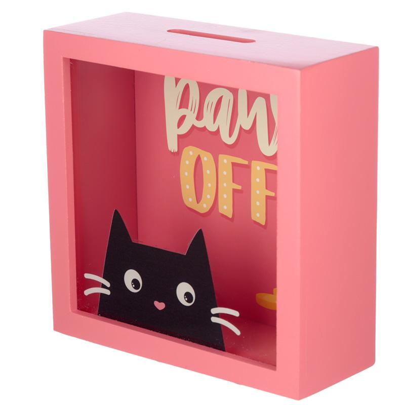See Your Savings Money Box Feline Fine Cat Design
