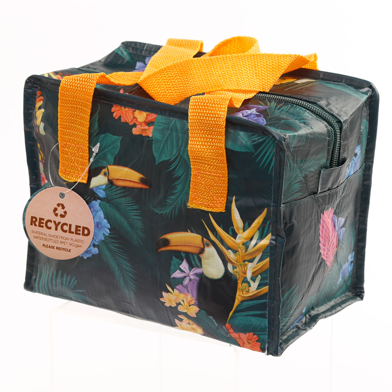 Toucan Party Zip Up Recycled Plastic Reusable Lunch Bag