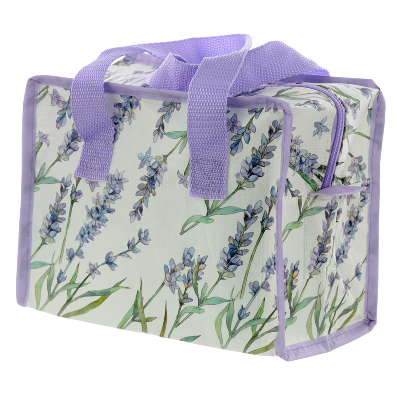 Lavender Fields Zip Up Recycled Plastic Reusable Lunch Bag
