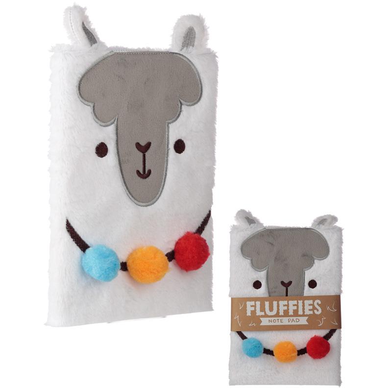 Fluffy Plush Notebook Llama Design