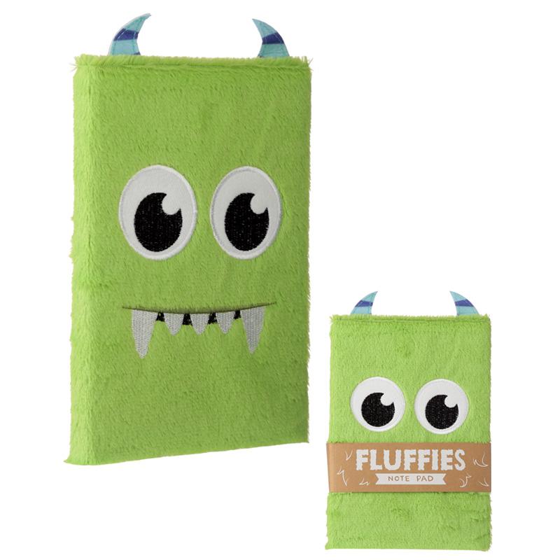 Fluffy Plush Notebook Monster Design