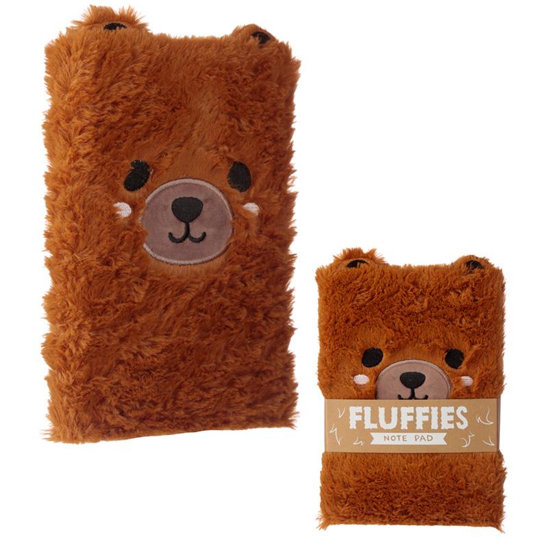 Fluffy Plush Notebook Cute Bear Design